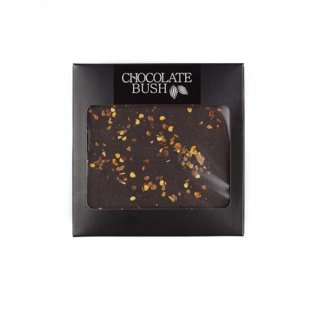Dark chocolate with chili and salt Himalayan