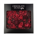 Dark chocolate with raspberries and blackberries