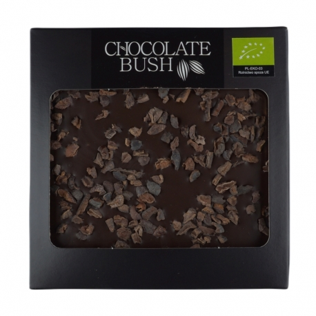 Dark chocolate with cherries, almonds and coconut